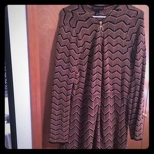 INC Long Sleeve Zip Up Sweater Dress